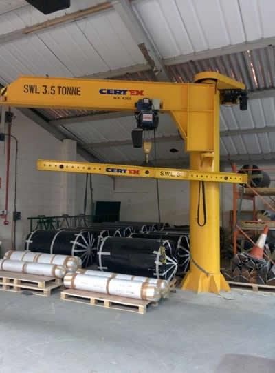 Used Jib Crane Hoist : Used jib cranes for sale manual rotation second hand jibs