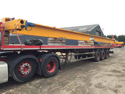 demag single girder crane. 3.2t SWL