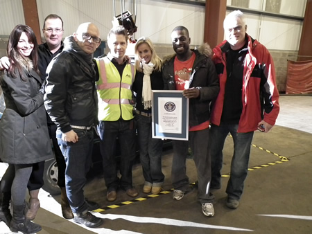 Gadget Show world record certificate