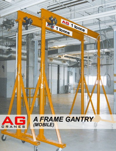 A Frame Hoist >> Mobile A Frame Gantry On Wheels Used Portable Lifting Secondhand A Frame
