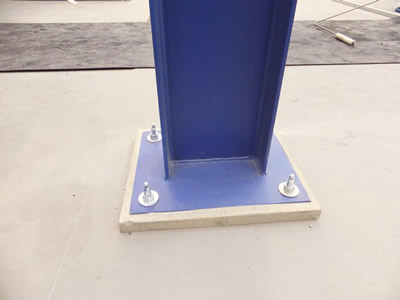 Free Standing Gantry Crane Steelwork Portal Columns With
